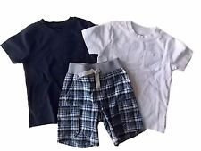 NWT Boy's Gymboree Auto Crew short sleeve shirts & shorts outfit 18-24 months 2T