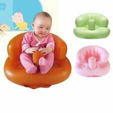 Baby Sofa Inflatable Kids Learn stool Training seat Bath Dining Chair PVC Seat