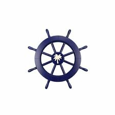 "Ship 18"" Decorative Ship Wheel with Palm Tree Wall Décor"