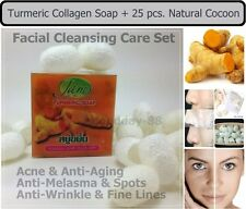 TURMERIC Collagen SOAP with 25 Natural Cocoon-Acne Anti aging & Melasma-Wrinkle