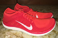 NEW Mens 11 NIKE Free 4.0 Flyknit Red Br Crimson Training Running Shoes Sneakers