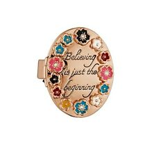 Disney Couture Rose Gold-Plated Believing is Just the Beginning Locket Ring