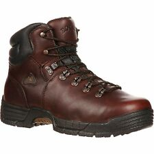 """Instock Rocky FQ0006114 Men's 6"""" Brown Mobilite WP Steel Toe Work Boots"""