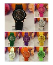 LOT of 5 or 10 Watches-Designer Style Florescent Silicone Band Fashion 4 Women