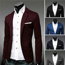 mature Stylish Mens Casual Slim Formal One Button Suit Blazer Coat Jacket Tops
