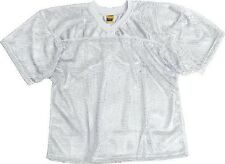 New ProMark Football Lacrosse Adult Waist Length Poly Mesh Practice Jersey WHITE