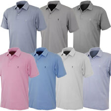 Fairway & Greene Mens Mini Stripe Tech Jersey Golf Polo Shirt