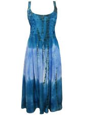 eaonplus RENAISSANCE Embroidered PRINCESS Dress BLUE TIE DYE Size 14/16 to 30/32