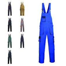 Portwest Texo Contrast Painters Dungarees Bib and Brace Overall Coverall TX12