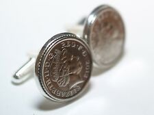 Wedding Anniversary Cufflinks. Genuine polished coin from your Wedding year gift