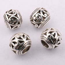 New 10/20Pcs Tibetan Silver Loose Spacer Beads Crafts Jewelry Making 10x11mm