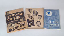 Vintage 1959 Weather Bird Shoe Gift Stamp Catalog And Two Stamp Books