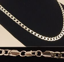 """Silver Plated 20"""" & 22"""" Inch Mens Curb Chain 8mm or 10mm Wide Womens Necklace"""