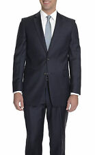 Raphael Modern Fit Solid Navy Blue Two Button Wool Suit