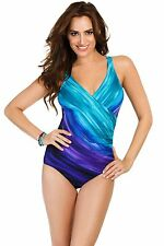 New Miraclesuit Wrap Firm Tummy Control Swimsuit Size12-16 Special Offer £99.99