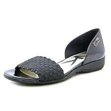 Anne Klein Sport Kea Women  Open-Toe Synthetic Black Flats NWOB