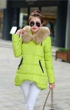 NEW Womens Winter Hooded Coats Fur Duck Down Parka Jacket Long Lady Outerwear