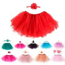 Newborn Toddler Baby Girl Tutu Skirt +Flower Headband Photo Prop Costume Outfit
