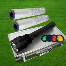 85W 8500LM HID Xenon Torch Flashlight Spotlight Light Lamp + 2x 8700mAh battery