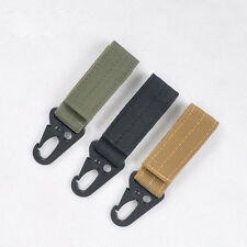 Carabiner Nylon Key Hook MOLLE Webbing Buckle Hanging System Belt Buckle Hanging