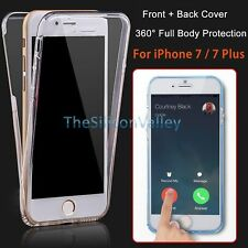 Clear 360° Full Body TPU Soft Protective Case Cover For iPhone 6/6s Plus /5S /SE