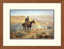 'Western The Wagon Boss' by Charles M. Russell Framed Painting Print