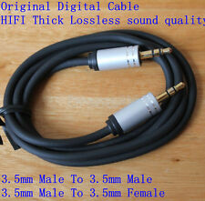HIFI 3.5mm Jack Car AUX Thick CABLE Male to Male Female M/F Audio Cord Extension