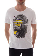 Bench T - Shirt berlin awesome white Pattern - Print Crew Neck Short sleeve