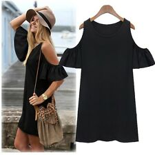 Women's Bohemian Boho Chic Butterfly Sleeve Cotton Summer Tunic Top Off Shoulder
