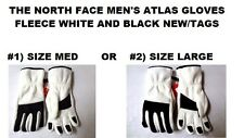 THE NORTH FACE MAN'S ATLAS GLOVE -RTO WHITE/BLACK SIZE #1) MED OR #2) LARGE NEW