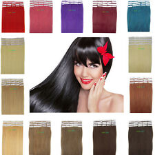 "16""18"" 20"" 22"" 24"" PU Tape in remy straight 100% human hair extensions 20pcs"