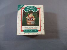 Hallmark 1987 Handcrafted Three 3 Men in a Tub Donna Lee Nursery Rhyme