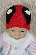 New Handmade Knit Crochet Deadpool Hat Baby Child Hat Newborn Photo Prop Hat Cap