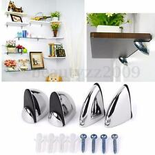 Polished Alloy Chrome Glass Shelf Support Clamp Brackets Bathroom For Shelves