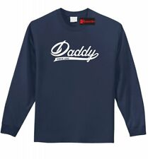 Daddy Since 2015 Mens Long Sleeve T Shirt New Father New Baby Fathers Day Tee Z1
