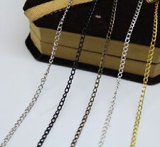 5m/100m silver /gold plated Color open link iron metal chain findings Making