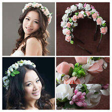 1x Flower Garland Floral Bridal Headband Hairband Wedding Prom Hair Accessories