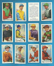 Gallaher original cigarette cards - FAMOUS JOCKEYS 1936 - INDIVIDUAL CARDS