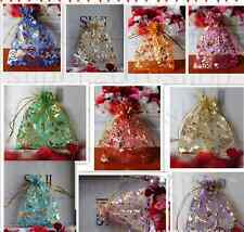 25/50/100X Organza Gift BagWedding Christmas Party  Bronzing Packaging Pouches