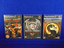 ps2 MORTAL KOMBAT Games Deception + Deadly Alliance + Shaolin Monks FIGHTING PAL