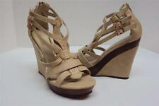 NEW BUCCO CAPENSIS DAISO WEDGE NATURAL OPEN TOE SANDALS SIZE 9