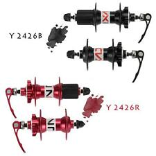 MTB Bicycle Disc Brake Hub Set Front Rear Quick Release Lever Skewers New G0K6