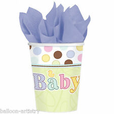 18 Tiny Bundle Spots Stripes New Baby Shower Party 266ml Paper Cups