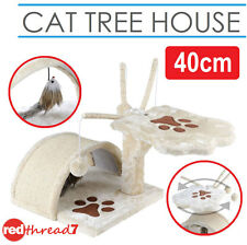 Cat Scratching Post Tree Pole Kitten Pussy Scratcher Toys House Bed Condo 45cm