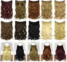 "22"" 55cm 100g Wavy miracle wire hair extension hot resistent synthetic hair"