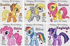 Counted Cross Stitch Personalised Greeting Card Kits - My Little Pony