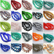 50/80pcs Rondelle Crystal Glass Loose Spacer Beads DIY Jewelry Bracelet Necklace
