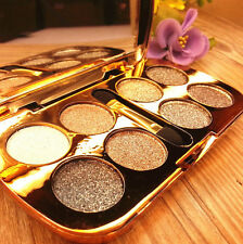 8 Colors Eyeshadow Eye Shadow Brush Makeup Sparkling Shimmer Pro Set Palette