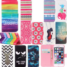 For Samsung S6 Edge S5 iPhone Protective Case PU Leather Stand Flip Cover Wallet