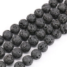 Wholesale 33/38/48/64/96Pcs/Bunch Lava Stone Round Loose Spacer Beads 4-12mm